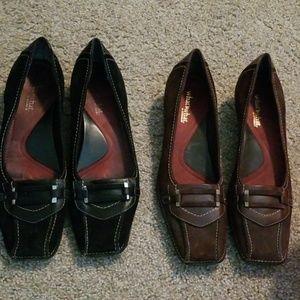 Dress Shoes Bundle Lot Black & Brown 2 Pairs